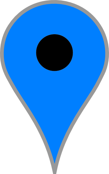 blue map pin